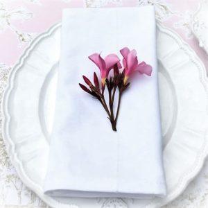 WeißeStoffservietten sind flexibel einsetzbar und passen sich an Geschirr und Anlass an