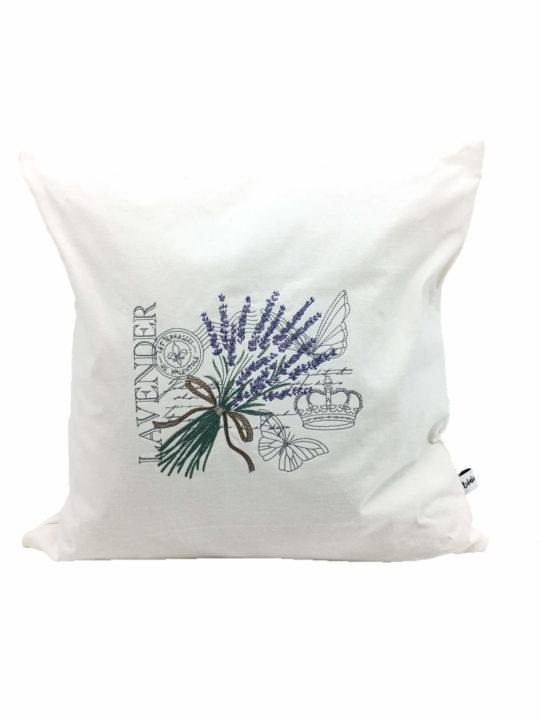 Kissen Lavendel Stickerei