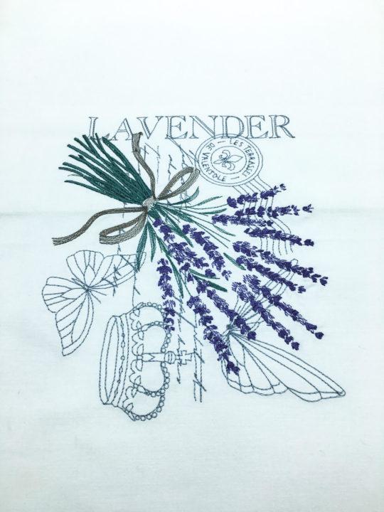 Lavendel Stickerei