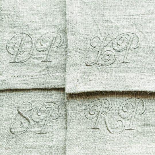 Leinen Serviette Monogramm