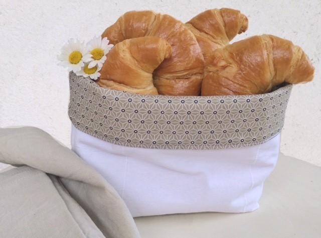 Stoffkorb, Utensilo weiß Leinen Geschenkideen für Frankreichliebhaber