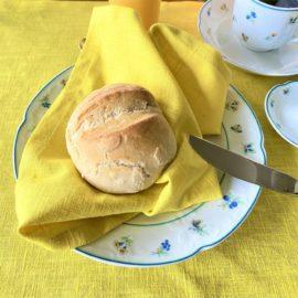 Leinen gelb Serviette Leinenserviette Tischwäsche