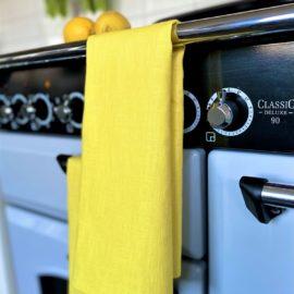 Geschirrtuch Küchentuch gelbLeinen