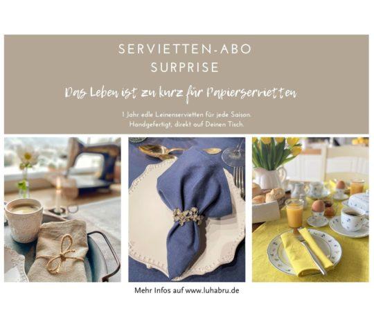 Surprise Serviettenabo