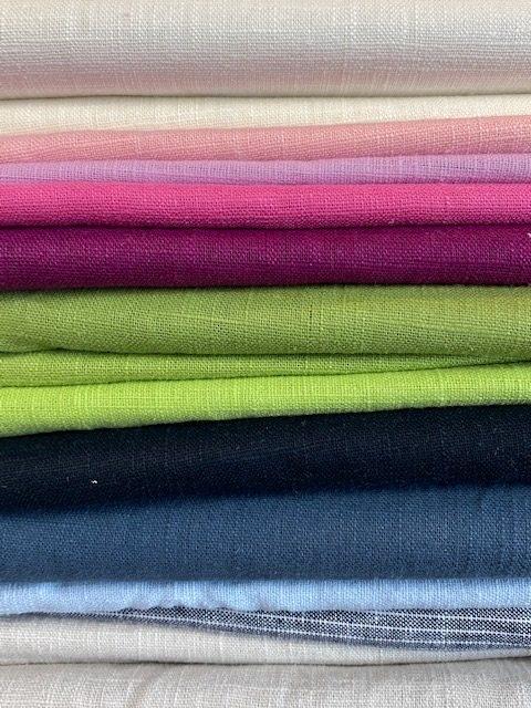 Leinenstoff Muster Farben