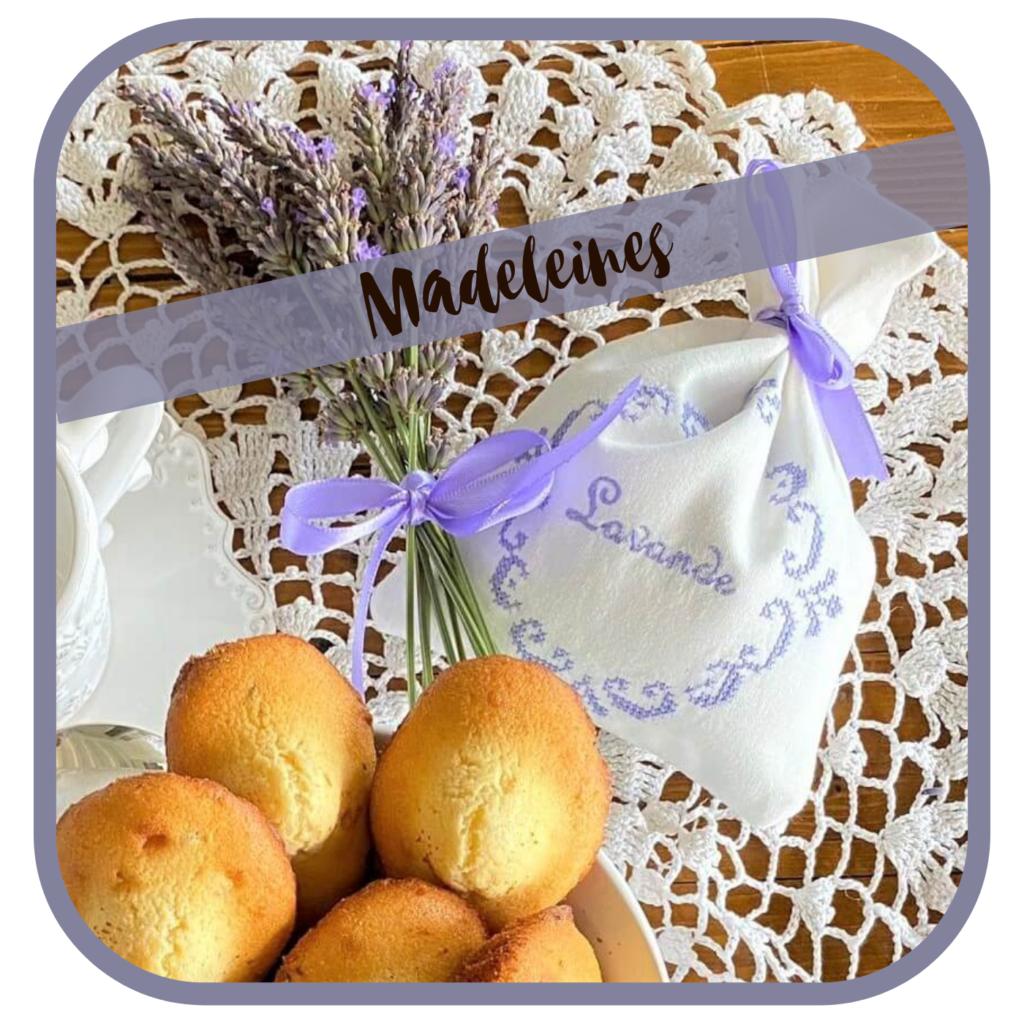 Madeleines, französisches Gebäck mit Lavendel