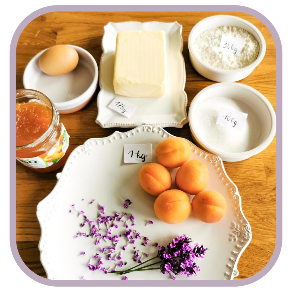 Zutaten für Tarte aux abricots